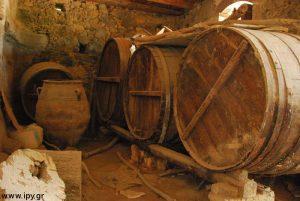 Παλιά βαρέλια κρασιού