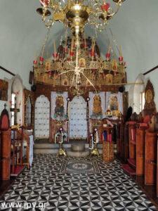 Εσωτερικό του ναό του Αγίου Γεωργίου