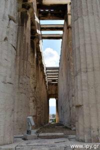 εσωτερικό με κολώνες
